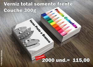 Promocao 2000 unidades - Cartão de Visitas