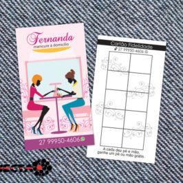 Cartão Fernanda Manicure